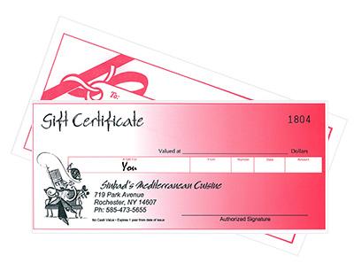 Sinbad's Gift Certifcate